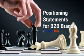 positioning statement for B2B brands and products
